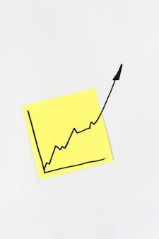 Nota com o gráfico da economia crescendo