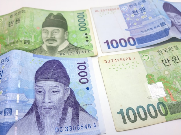 Nota de banco coreana
