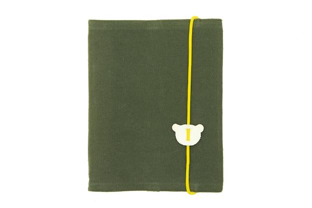 Nota de livro isolado no fundo branco