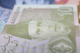 Nota de moeda paquistanesa de 10 rupias