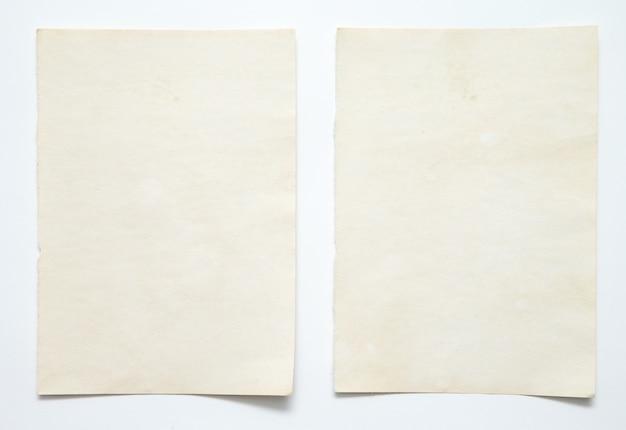Nota de papel em branco