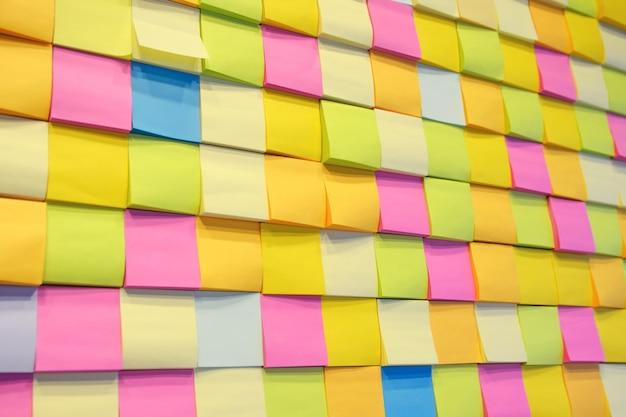 Nota de papel na parede