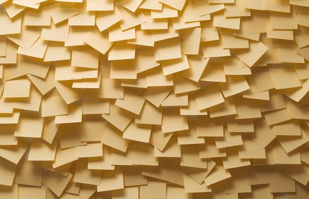 Notas auto-adesivas amarelas na parede