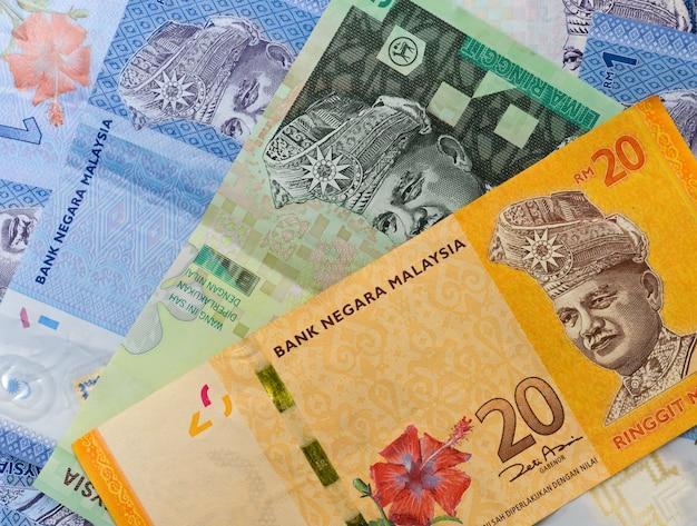 Notas de banco da malásia