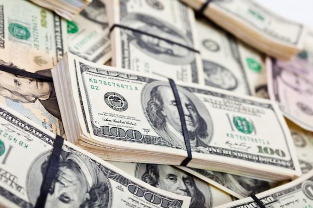 Notas de banco em dólares americanos