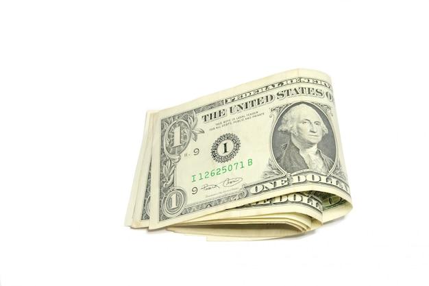 Notas de dólar dobráveis isoladas