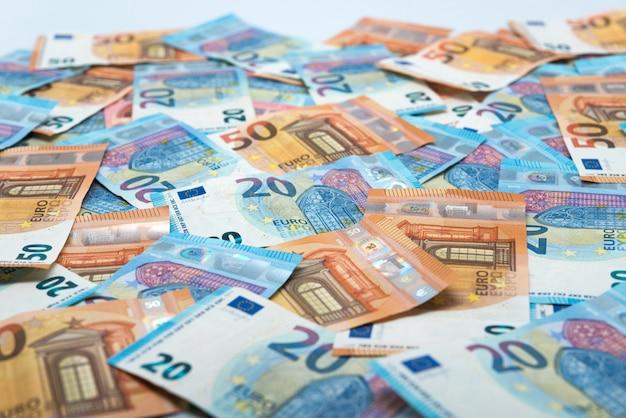 Notas de euro, conceito de economia