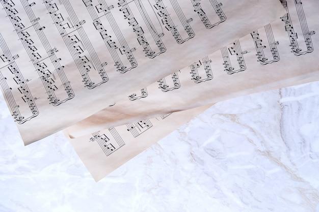 Notas de música antiga