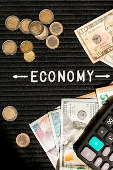 Notas e moedas econômicas