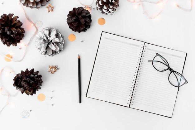 Notas para fazer uma lista de composição do natal