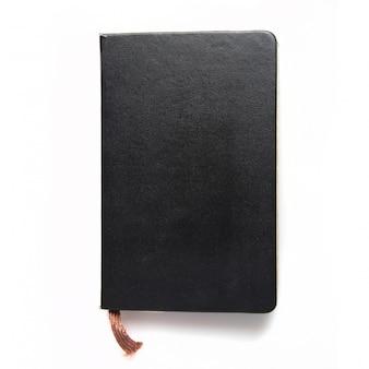 Notebook elegante com tampa preta
