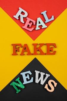 Notícias falsas acima da vista