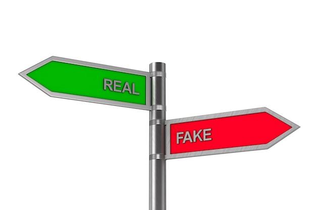 Notícias falsas ou reais em branco.