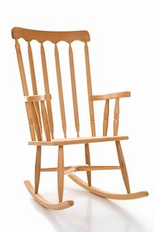 Nova cadeira de balanço de madeira em branco