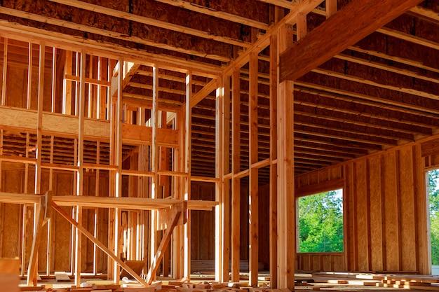 Nova construção de uma casa em uma subdivisão