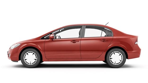Nova ilustração de carro de luxo genérico com detalhes vermelhos isolada em uma superfície branca