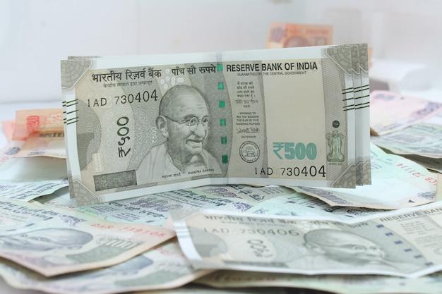 Nova moeda indiana das rupias 500.