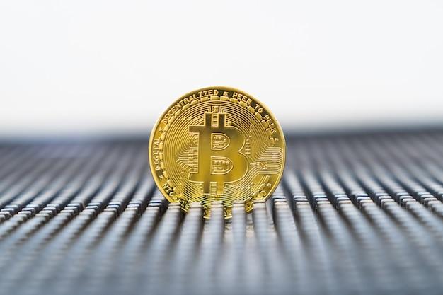Nova moeda online. bitcoin é a moeda do futuro. criptomoeda de ouro.