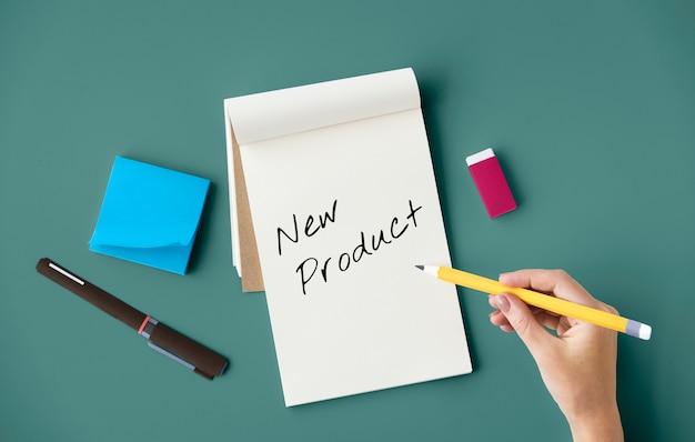 Nova palavra de lançamento de negócios de produto