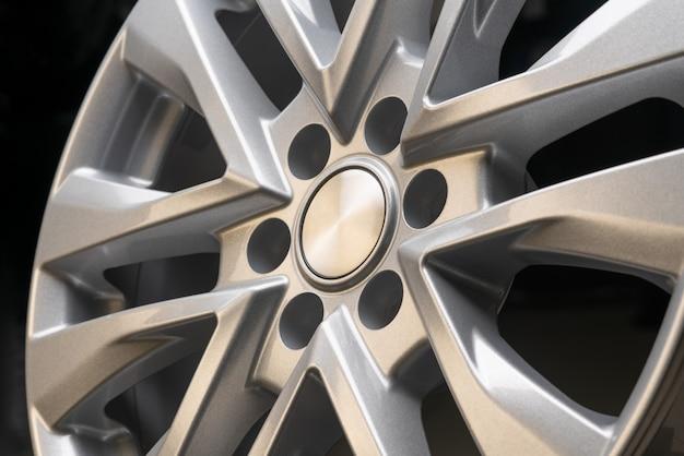 Nova roda de aro de alumínio prata poderosa