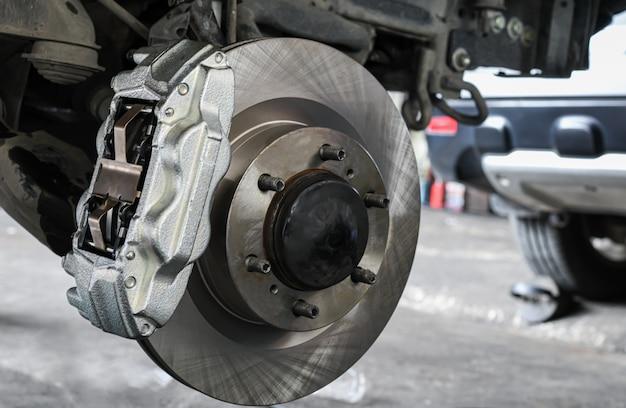 Nova substituição do sistema de freio do carro