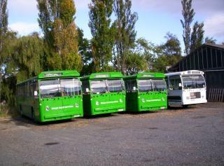 Nova zelândia é de cerca de ônibus verde, transporte