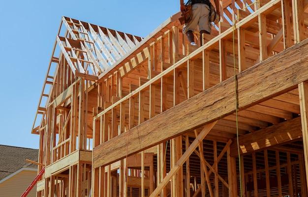 Novas casas sendo construídas na américa do norte