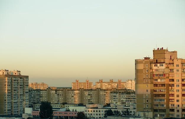 Novas construções de prédios de apartamentos em kiev, ucrânia