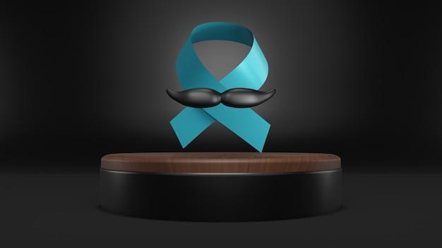 Novembro, mês de conscientização do câncer de próstata com fita azul