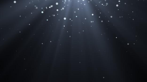 Novo ano 2020. fundo de bokeh. resumo de luzes. cenário de feliz natal. luz de brilho. partículas desfocadas. flocos de neve