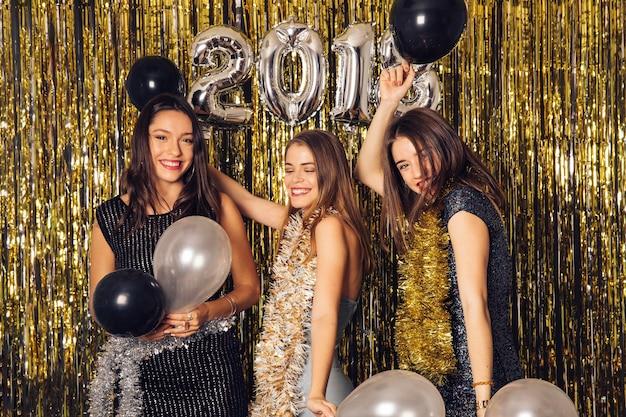 Novo ano, conceito de festa com balões