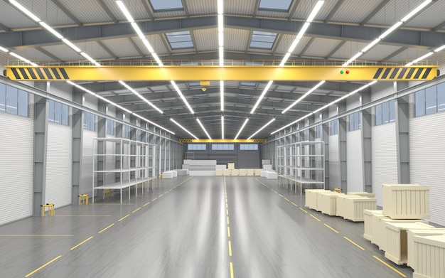 Novo armazém vazio ou fábrica