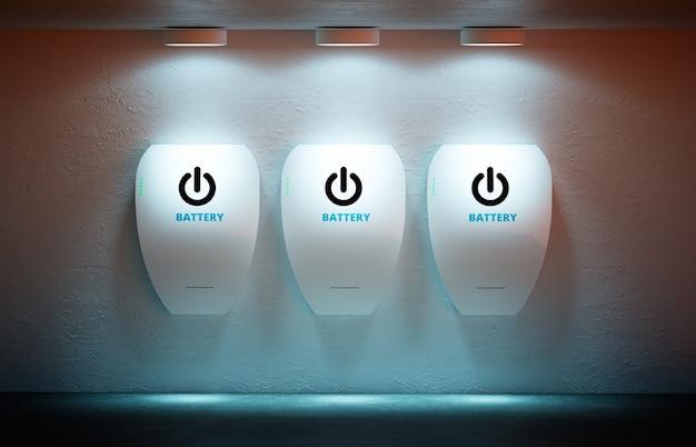 Novo conceito de energia - bateria doméstica pessoal.