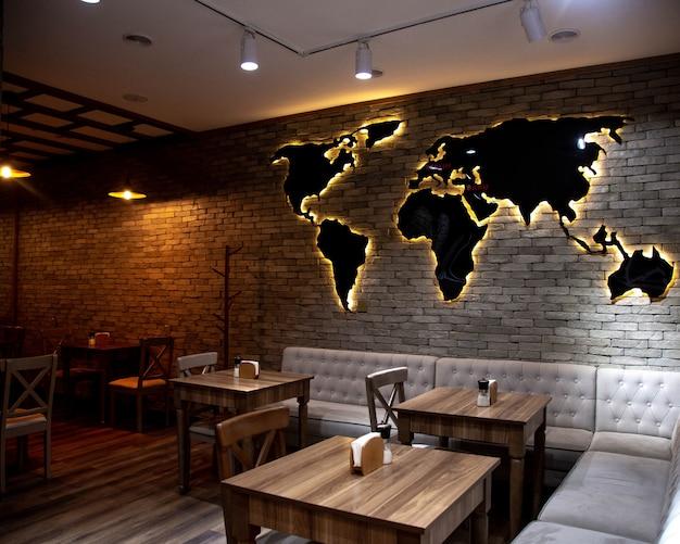 Novo conceito de espaço aberto do restaurante