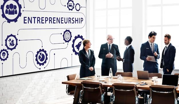Novo conceito gráfico de startups de negócios
