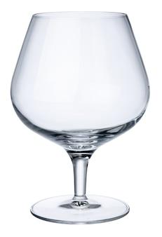 Novo copo de uísque vazio isolado no branco