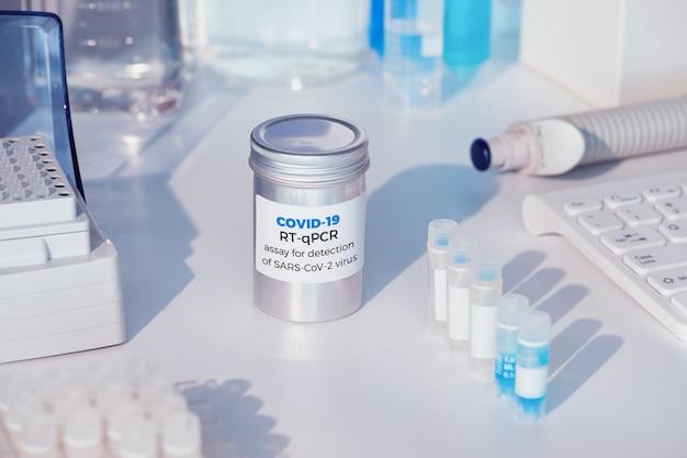 Novo e rápido kit de teste de coronavírus covid-19, reagentes e ferramentas de diagnóstico por pcr