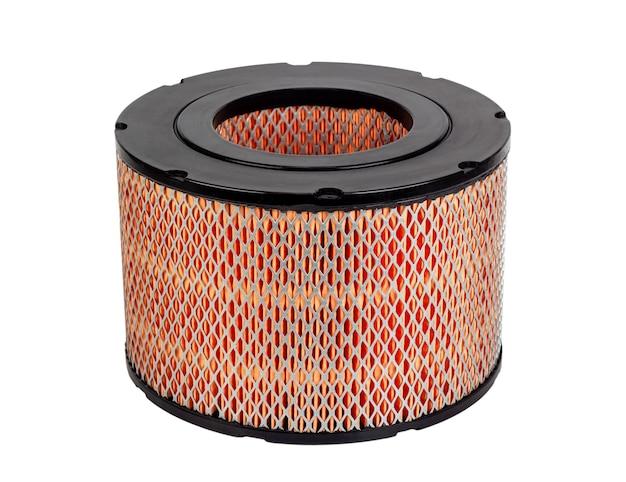 Novo filtro de ar redondo do motor do carro isolado