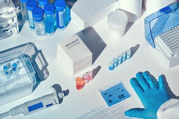 Novo kit de diagnóstico de coronavírus. reagentes, iniciadores e amostras de controle para detectar presença de coronavírus. teste de diagnóstico in vitro baseado na tecnologia de pcr em tempo real.