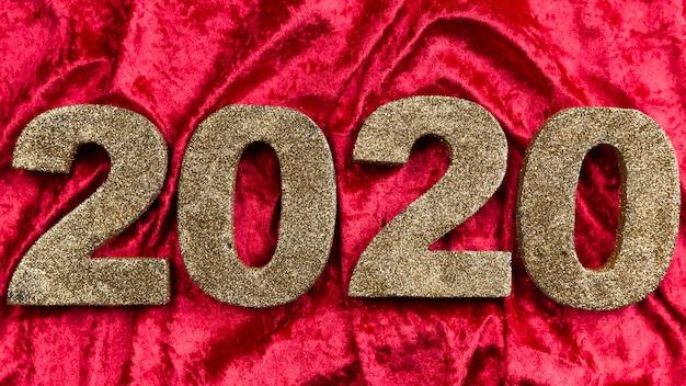 Novo número do ano chinês em veludo vermelho