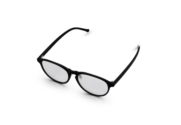 Novos óculos em branco isolado