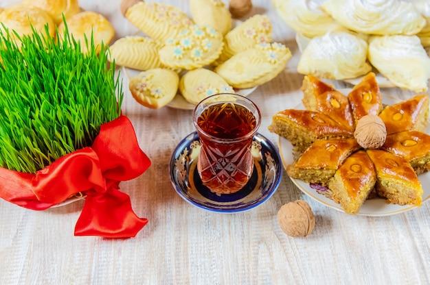 Novruz tradições do azerbaijão. ano novo. foco seletivo.