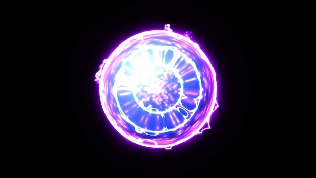 Núcleo de energia plexus ball em fundo preto