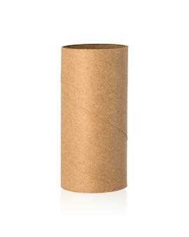Núcleo de tecidos marrom isolado no fundo branco