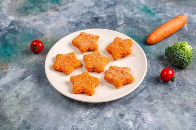 Nuggets de peixe congelados deliciosos.