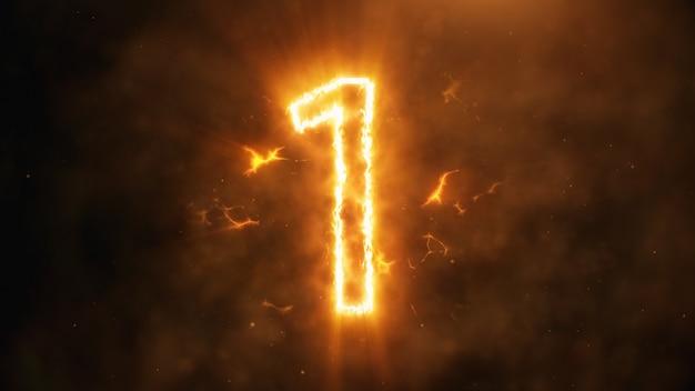 Número 1 em chamas