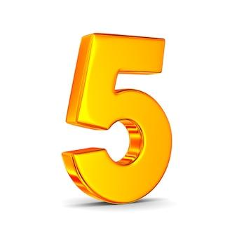 Número cinco no espaço em branco