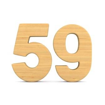 Número cinquenta e nove em fundo branco.