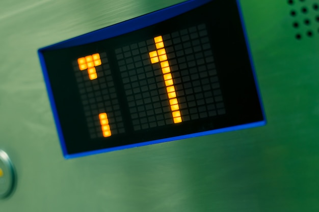 Número de andar do show panel do elevador