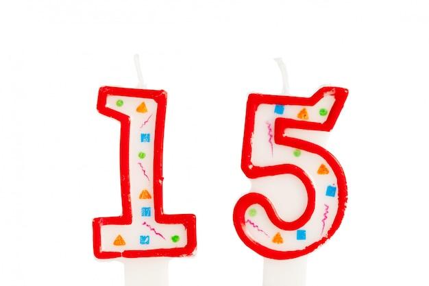 Número de velas de aniversário